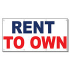 Rent To Own Blue Red 13 Oz Vinyl Banner Sign With Grommets