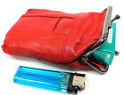 2pc Set Soft Leather Cigarette Case Snap Top Closure One for 100's One for 120's