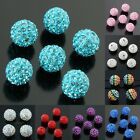 Czech Crystal Round 10mm Loose Spacer Beads White/Turquoise/Pink/Red/Purple/Blue