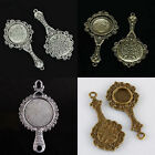 Tibetan Silver/Bronze Flower of Life Photo Picture Frame Cabochon Charms Pendant