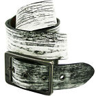 Lowlife Ash Mens Belt Leather - Textured White ~ Brazil Nut All Sizes
