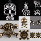 Skull Heads Skeleton Bones Pirate Palm 13 Lucky Number Freemasonry Charms
