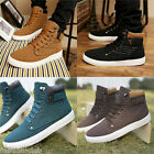 Hot Warm Men's Winter Leather Boots Outdoor Waterproof Snow Martin Board Boots