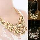 Fashion Womens  Statement Retro Vintage Hollow Pendant Bib Choker Necklace Chain
