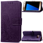 Protector Flip Stand Leather Card Hoder Wallet Case Cover For Samsung Phone+Gift