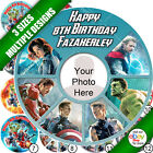 The Avengers Round Icing Personalised Edible Picture Cake Topper b
