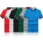 Casual Men's Tops Slim Fit Fashion T-shirts Polo Shirt Short Sleeve Tee Stylish