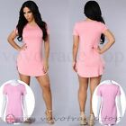 Fashion Dress Women Ladies Short Sleeve Stretch Bodycon Casual Party Dress Pure