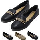 New Womens Ballerina Ballet Dolly Ladies Pumps Slip On Flat Shoes Loafer Size