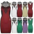 New Womens Ladies Sleeveless Slimming Effect Lace Sequins Bodycon Top Mini Dress