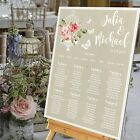 Personalised Wedding Table Seating Plan- FLORAL VINTAGE BIRDCAGE - 4 SIZES