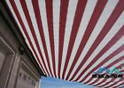 SHANS New Design Stripes Maroon 90% UV Shade Cloth with Clips Free