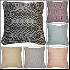 """Alba Geometric Diamonds Cushion Covers Or Complete One Pair 17"""" x 17"""" Scatter"""