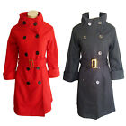 Double Breasted Button Winter Coat With Belt Size 8