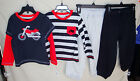 LITTLE ME 100% Cotton 4 pc Day Care BLACK MOTORCYCLE Set INFANT BOY SIZES NWT