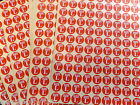 15 x SHEETS =1980 SIZE STICKERS SMALL MEDIUM LARGE RED CLOTHES LABELS UK SELLER