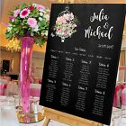 Personalised Wedding Table Seating Plan- CHALKBOARD-BIRDCAGE-PINK - 4 SIZES