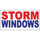 Storm Windows Red Blue DECAL STICKER Retail Store Sign