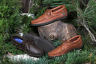 Mens Deertan Leather Casual Lace-Up Shoes Wrap Around Rubber Soles Sizes 6-13