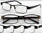 L419 Mans Classic Simple Design Reading Glasses Spring Hinges+75+125+150+175+225