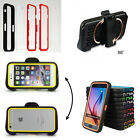 Hot Shockproof Dirtproof Armor Transparent TPU+PC Stand Case For iPhone Samsung