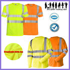 Внешний вид - Hi Vis T Shirt ANSI Class 3 Reflective Safety Lime Long Sleeve HIGH VISIBILITY