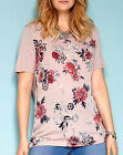 Marisota Anthology Dusty Pink Vintage Floral Print Top Tunic Plus Size 20 to 32