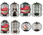 LARGE BIRD RESISTANT SQUIRREL PROOF WILD BIRD SEED FEEDER HANGING FEED CAGE