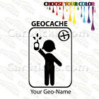 """1 of 5"""" to 20"""" Geocaching Girl Personalized /A car wall window stickers decals"""