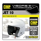 OMP JET 10 OPEN FACE RALLY HELMET OPTIONAL EXTRA VISORS & ACCESSORIES OMP