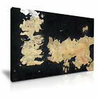 Game of Thrones Map Canvas Wall Art Home Office Deco