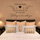 CANT HELP FALLING IN LOVE - ELVIS  Quote, Wall Art Sticker Decal, Mural, lyrics