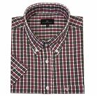 Cotton Valley Cotton Rich Navy Red Window Check Shirt (14291) in Size 2XL to 8XL