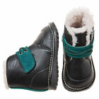 Little Blue Lamb Black Fleece Squeaky Shoes Boots 3 to 7 New in Box