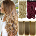 Clearance Sale One Piece Real Thick 3/4 Full Head Clip In Hair Extensions Brown