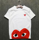 Men's Women's T-shirts CDG Play Comme des Garcons Short ClassicMask Heart Tee