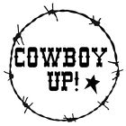 Stencil Cowboy Up! Barbed Wire Border Western Country Rustic You Choose Size