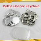100 Sets Bottle Opener Keychain/Magnetic Nickle Parts for Button Maker 5 SIZE