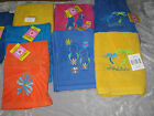Tropics Colorful Embroidered Beach Towel 100% Cotton Soft Absorbent NEW!