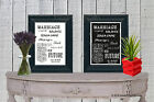 Guest Book Jenga Game Personalised Chalk Board Style print Sign Vintage aa137