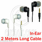 3.5mm In-Ear 2 Meters Long Cable Headphones Earphones Earbuds for MP3 iPod