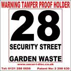 WB1 Secur-i-Disc Red & White Wheelie Bin Smart Sticker