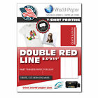 Premium Inkjet Heat Transfer Paper w/ Super Soft Finish for White Light Fabrics