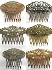 Beautiful Vintage Style Hair Comb Silver & Gold Antique Crystal Pearl Bridal