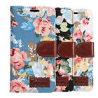 Luxury Flowers Cloth PU Leather Card Wallet Flip Kickstand Cover Case For LG G5