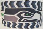 "GROSGRAIN SEATTLE SEAHAWKS FOOTBALL 3"" INCH PRINTED GROSGRAIN RIBBON 4 HAIR BOWS $4.2 USD on eBay"