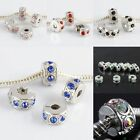 Crystal Rhinestone Stopper Clips Clasps End Beads Findings Jewelry Fit Bracelet