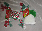Holiday Rope Dog Toys Rubber Plush Christmas Play Exercise Pet Puppy NEW!