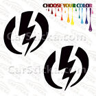 """2 of 5"""" Electric Goggles /A snowboard skate car window bumper stickers decals"""