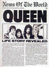 QUEEN REPRO 1977 NEWS OF THE WORLD PRESS BOOKLET . FREDDIE MERCURY . NOT CD DVD